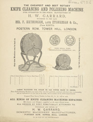 Advert For H. W. Garrard Knife Cleaning & Polishing Machine